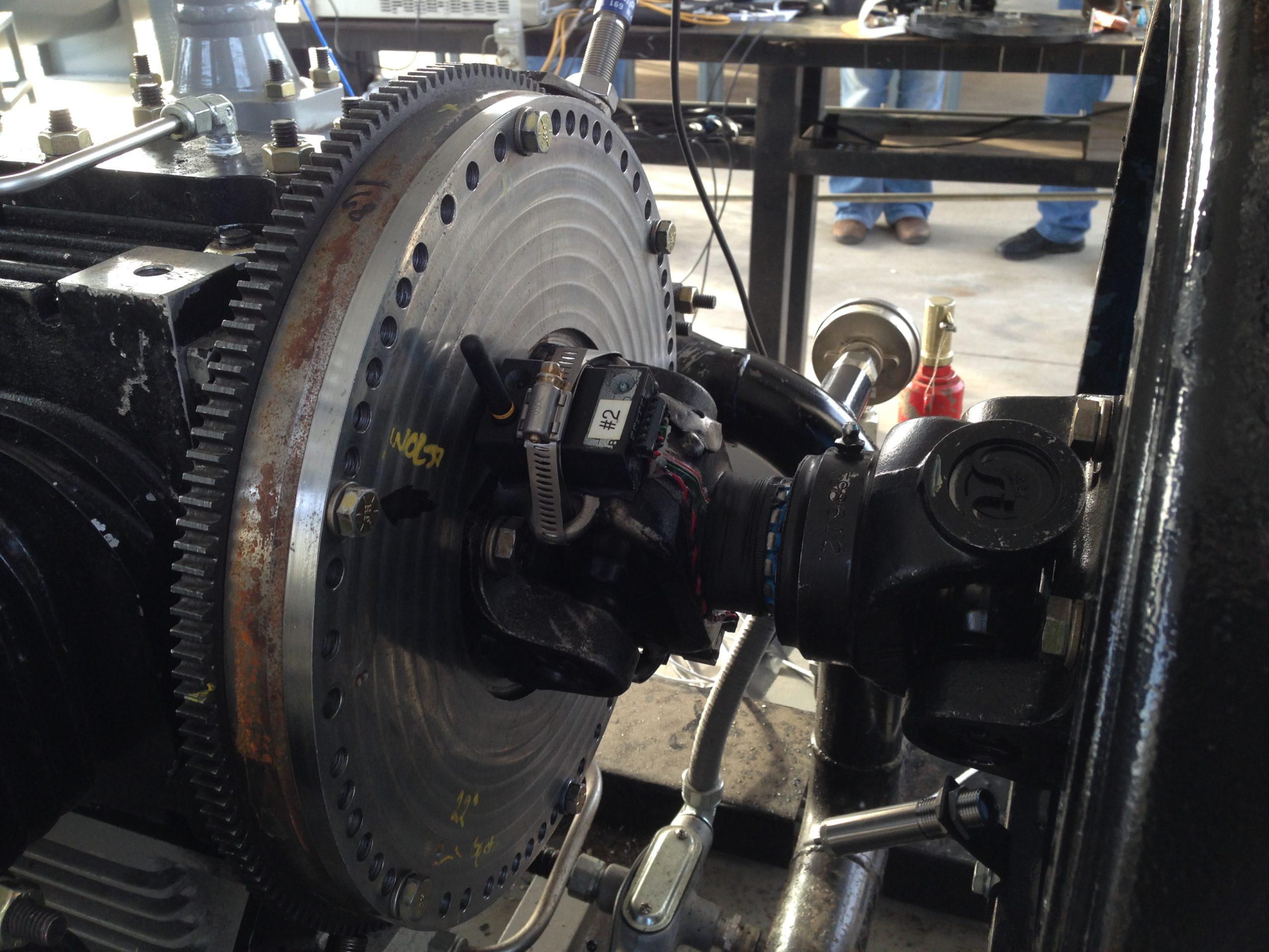 TT10K Telemetry on Reciprocating Compressor for Torsional Vibration Measurements