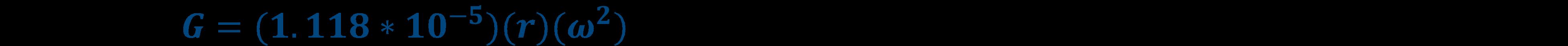 G Force Equation